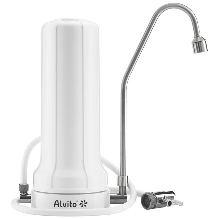 Auftischfilter AquaNEVO Pro mit Edelstahlhahn Wasser Filter filtern