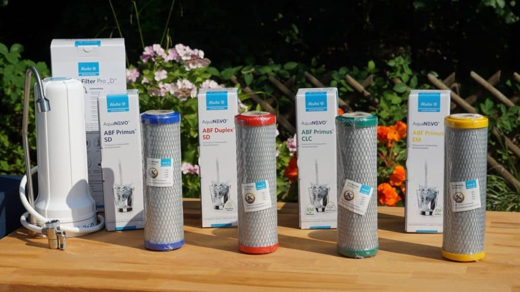 Sortiment von Filterblöcken Wasserfilter Filterblock Aktivkohle-Filter