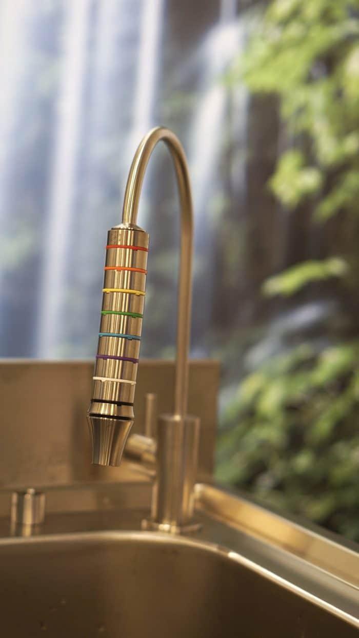 Separater Trinkwasserhahn Alba 2 aus Edelstahl 1