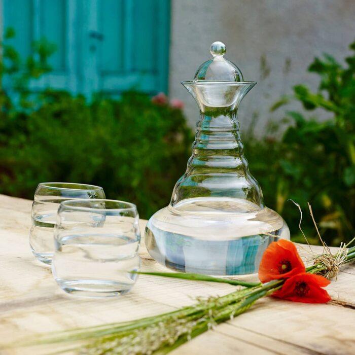 Glaskaraffe Alladin mit goldener Lebensblume 2