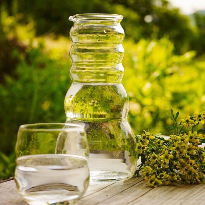Wasserkrug Cadus mit Glasdeckel 1