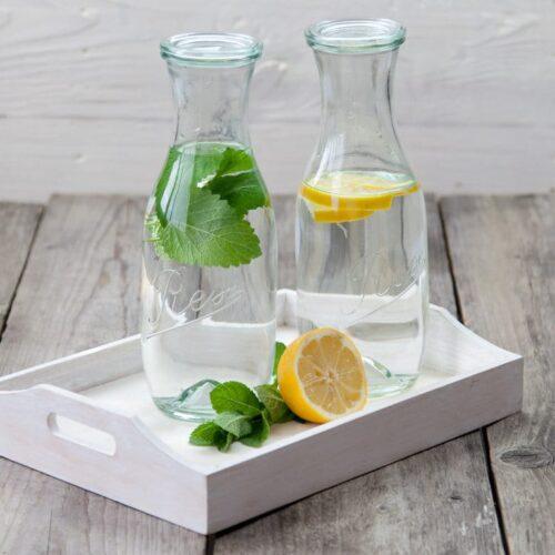 Rex Pyramiden Flasche 1l mit Zitrone und Minze
