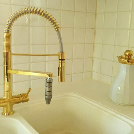 3 Wege Armatur Luxury Gold
