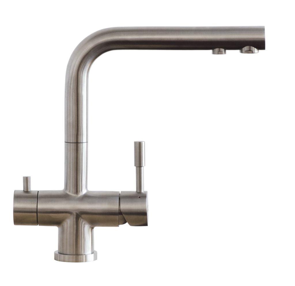 Design Armatur Florenz. Der Edelstahl 3-Wege Wasserhahn bietet volle Qualität und vollen Komfort für deine HeimQuelle.