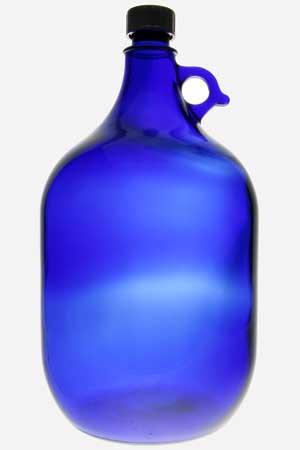 Die blaue Gallone 5,0 Liter mit goldener Lebensblume 1