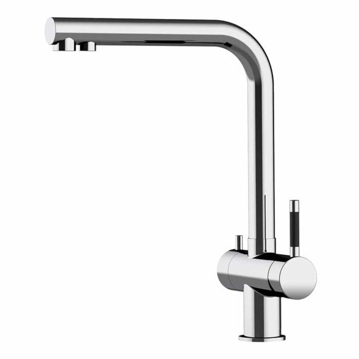 3 Wege Wasserhahn Atessa - Edelstahl glänzend 1