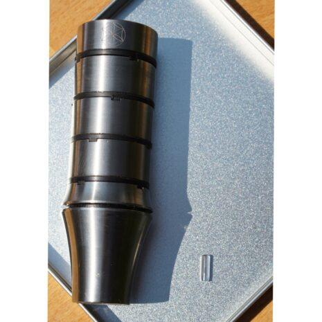 NEXUS Pin Bergkristall neben MOD3 Titan Wasserwirbler