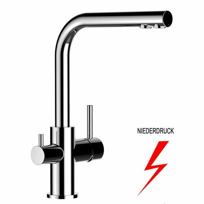 4 Wege Wasserhahn Paolo ND Chrom - für Niederdruck-Boiler 1