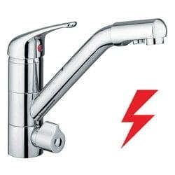 4 Wege Wasserhahn Siena ND Chrom - für Niederdruck-Boiler 1