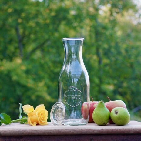 Wasserflasche Weck mit Glasdeckel von HeimQuell