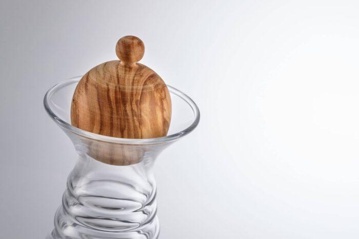 Karaffe Alladin mit Olivenholzdeckel 3