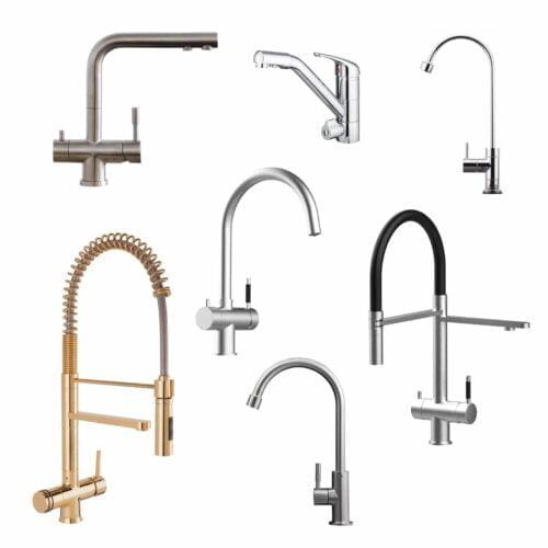 Wasserhahn: Einzel, 3 und 4 Wege Armaturen
