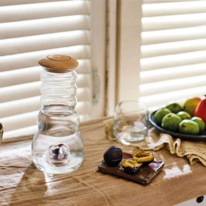 Wasserkrug Cadus mit Olivenholzdeckel 1